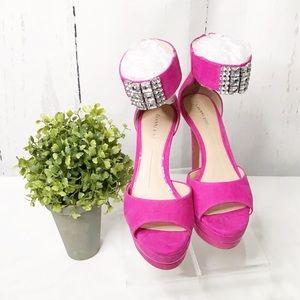 Gianni Bini Rhinestone Ankle Strap Heels•Size 10